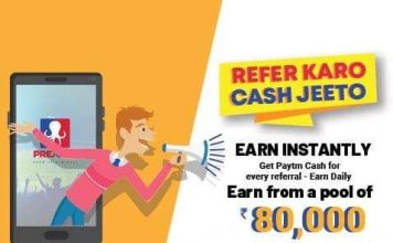 Refer and Earn Paytm Cash by PredCred