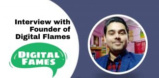 Interview with Gaurav Joshi, A Passionate Blogger & Founder of Digital Fames